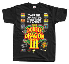 DOUBLE DRAGON III Nes POSTER T shirt BLACK GREEN NAVY Arcade Famicom NINTENDO