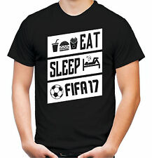 Eat, Sleep & FIFA17 T-Shirt | Fussball | Konsole | PlayStation | Xbox | Gamer