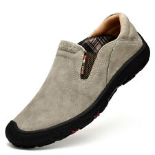 Men's Slip On Sports Outdoor Sneakers Casual Trail Running Hiking Shoes Gray