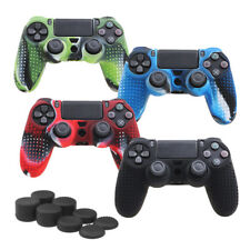 Camouflage Silicone Rubber Skin Grip Cover Case for PlayStation 4 Controller JG