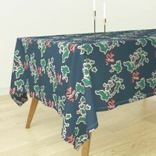 Tablecloth Green Blue Coral Map Sea Serpent Holli Zollinger Cotton Sateen