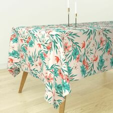 Tablecloth Wildflower Pink Flower Floral Retro Holli Zollinger Cotton Sateen