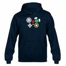 Gamecube Inspired Controller Buttons Hooded Sweater Hoody