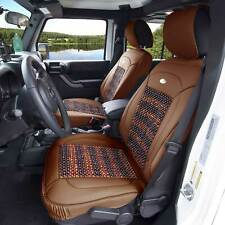 Premium Leather Seat Cushion Covers Massage Cooling Beads Universal Fit Brown (Fits: Seat)