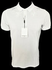 Brand New GIVENCHY Paris Polo Casual 3D Stars T-Shirt Tee Hemd Apparel White