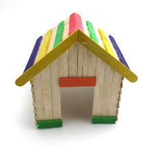 Creative NEW Wooden DIY Crafts Colorful Wood Sticks Children Handmade House Toys