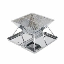 Outdoor Camping Cooker Charcoal Grill Foldable Barbecue Stainless Steel BBQ Fold