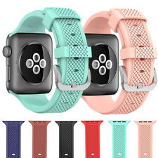 For Apple Watch Series 4 3 2 1 Band Sports Silicone Replacement Watch Band Strap