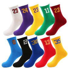 5 Pairs Men's figure Elite Basketball Socks Fit Athletic Crew Middle Ankle Socks