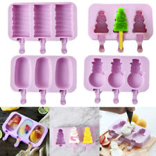50pc Hand DIY Ice Cream Tray Popsicle Molds Ice Mold Silicone Reusable 2019