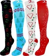 4 Pair Small/Medium Extra Soft Premium Quality Colorful Compression Socks