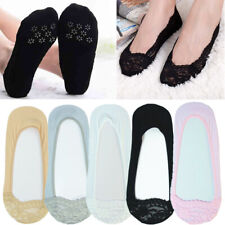 3-12 Pairs Womens Half Lace Invisible Boat No Show Nonslip Liner Socks Loafer