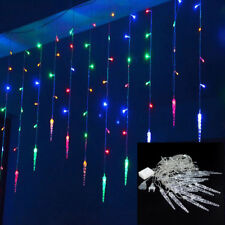 11.5/16.5FT Outdoor Christmas String Fairy Wedding Party Icicle Light Lamp Decor