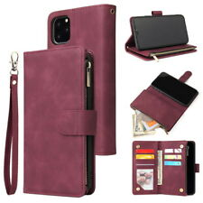 For iPhone 11 Pro Max Xs XR 7 8 6s Luxury Genuine Leather Soft Wallet Case Cover