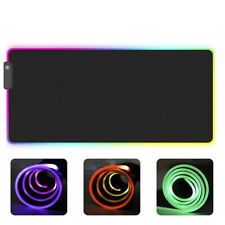 RGB Colorful LED Lighting Gaming Mouse Pad Mat for PC Laptop~<dPYB