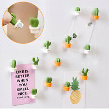 Cute Succulent Plant Magnet Button Cactus Refrigerator Message Sticker-deals1688