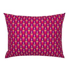 Candles Hanukkah Candle Hanukah Chanukah Judaica Pink Pillow Sham by Roostery
