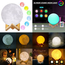 3D Print Starry Star Moon Lamp Colorful Change Touch Switch Night Light Xmas LOT