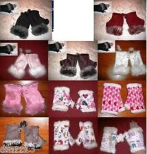 1 Pair Fingerless Mittens-one size fits most adults-New