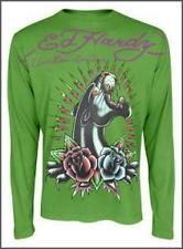 Ed Hardy Long Sleeve Shirt NWT Panther/Rose
