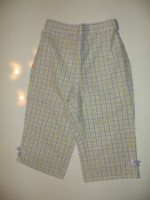 GYMBOREE SNAPPY DRESSER PLAID BOW CUFF DRESSY WOVEN PANTS 3 6 12 18 24 NWT