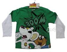 Boys Danger Mouse Boom Long Sleeve Top Ages 4-12 Years