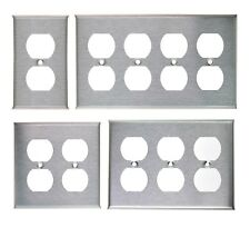 DUPLEX PLUG OUTLET STAINLESS STEEL COVER PLATE 1 2 3 4 GANG