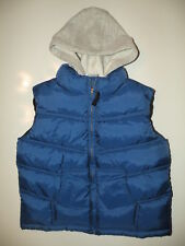 GYMBOREE SNOWBOARD LEGEND BLUE HOODED PUFFER VEST 3 4 5 6 7 8 10 12 NWT