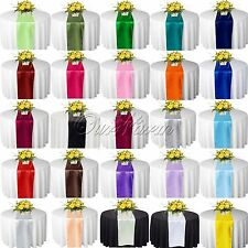 """10 x Satin Table Runners 12""""x108"""" Wedding Party banquet Decorations MultiColors"""