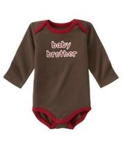 GYMBOREE MISCHIEVOUS MONKEY BROWN Baby Brother BODYSUIT 6 12 18 24 NWT