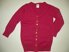 GYMBOREE FALL HOMECOMING PINK ARGYLE CARDIGAN SWEATER 3 4 5 6 10 12 NWT