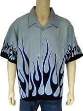 NEW Flames Shirt Bowling Biker club, Small~Large