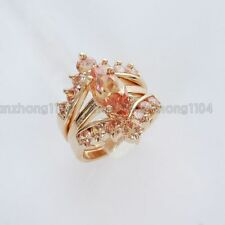 18K GP Citrine Crystal 3 in 1 Ring ML0628 Free Shipping