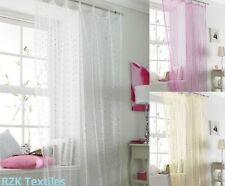 """NEW Net Voile Tab Top Curtain Panel 54x 89"""" Popsicle"""