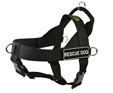 No Pull Dog Harness with Patches RESCUE DOG