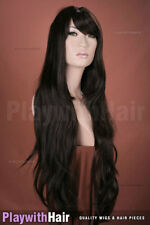 Classic Silky Layered XXLong Wig - COLOUR CHOICES! Black Brown Burgundy Red