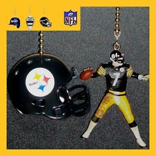 NFL PITTSBURGH STEELERS BEN ROETHLISBERGER & CHOICE OF HELMET CEILING FAN PULLS