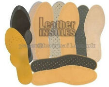 WOMENS LEATHER INSOLES Genuine Leather Shoes Boots Non Slip Odour Free Release
