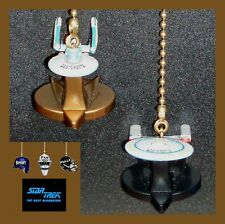 STAR TREK USS ENTERPRISE D & USS ENTERPRISE B STARSHIPS CEILING FAN PULLS-ST2
