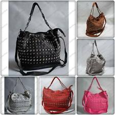 DESIGNER STUDS HOBO MESSENGER SHOULDER BAG HANDBAG
