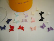 30 3D PEARLESCENT BUTTERFLY Wedding PARTY Table Confetti Topper LOTS OF COLOURS