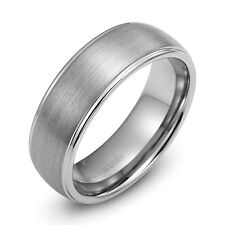 Mens Wedding Ring New Tungsten Carbide Band for Man Size 8 - 12