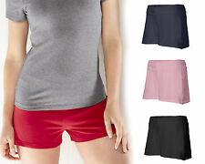 Bella Ladies Cotton/Spandex Fitness Shorts, Workout, 6 Colors & 5 Sizes (825)