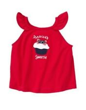 "GYMBOREE 4th OF JULY RED ""America's Sweetie"" CUPCAKE TANK TOP 6 12 3T NWT"