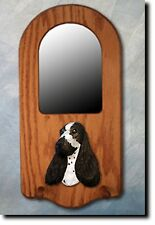 English Cocker Spaniel Portrait Mirror. Home Decor. Dog Wood Products & Gifts.