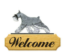 Schnauzer (Miniature) Welcome Sign. Home,Yard & Garden Dog Wood Signs Products.