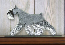 Schnauzer (Miniature) (Dog in Gait) Topper. Home Decor Dog Products & Dog Gifts.