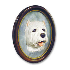 West Highland Terrier Sculptured 3 Dimensional Portrait. Home Dog Product Gifts.