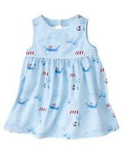 GYMBOREE VENICE SWEETIE BLUE CAT BOAT 2-PC DRESS 0 3 18 24  NWT