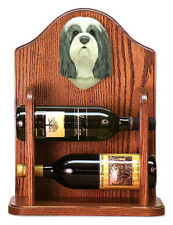 Bearded Collie Dog Breed Portrait Wine Racks. Decorative Wood Products  & Gifts